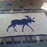 Cute Moose Rug
