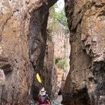 Kayaking the arches at Palisade Head