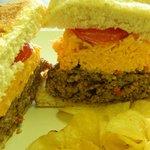 The Pimento Burger (local, farm-raised beef!!)