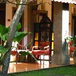 Chambre coté jardin avec terrasse privative