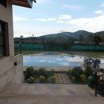 Dining area balcony towards Swimming pool