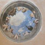 A whimsical ceiling fresco