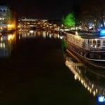 Glassboat at night