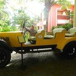an old safari car