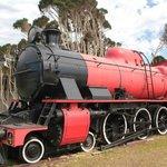 Una delle locomotive restaurate