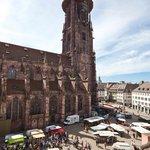 Aussicht auf den  Markt und das Münster