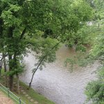 View from our room of the river