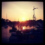 Sunset over Saundersfoot Harbour