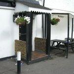 Main entrance to the pub-motel.