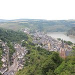 The view from the Castle lookout over Oberwesel