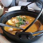 Pato com Curry Vermelho