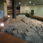 The Roman wall on the basement