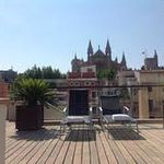 The lovely (quiet) roof terrace.