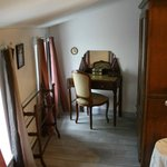 Dressing area in bedroom of L'Ancienne Forge