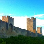 The ancient city walls of Visby