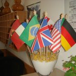 EU flags at reception