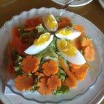 Beautiful and tasty salad