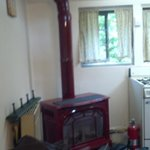 small and quaint fireplace/heater