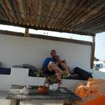En la terraza descansando...