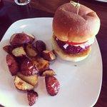 Hemp Nut Burger with Roasted Potatoes
