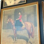 We sat under this painting of HRH