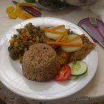 Escovitch fish from the resort kitchen