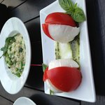 Caprese salad and risotto