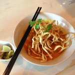 khao Soi (egg noodles in coconut curry sauce)