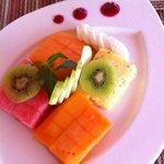 Beautiful fruit plate.