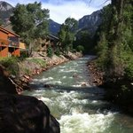 Uncompahgre River flowing outside the Inn picture taken standing on the bridge right outside roo