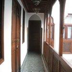 Pasillo de acceso a las habitaciones de la planta superior