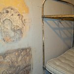 Historic art work in one of the jail cells