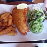 Fish, minted peas and chips 03/07/13