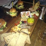 A sneaky shot of some punters grub (foolishly forgot to shoot my own food!!)
