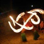 Fire dancing show