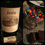 08 Jordan Cab and Ritz specialty chocolate is delicious! Perfect combo!