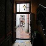Entry through Tango House courtyard