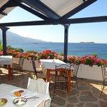 terrasse de la salle à manger très agréable