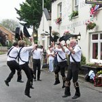Black Dragon Morris Dancers outside the Murrell Arms Pub