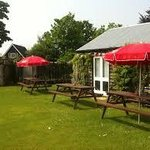 The Murrell Arms Garden, come and visit the chickens, play equipment available & dog friendly