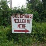 mine entrance sign