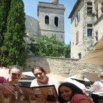 Beautiful location. L'Eglise Saint Etienne dominates.
