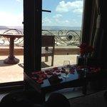 Vista do quarto do hotel