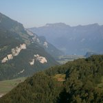 View down valley towards Lake Brienz