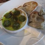 The escargots and brown toast