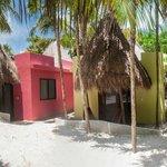 Beach side cabanas