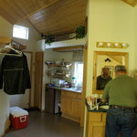 Kitchenette in Willow Cabin