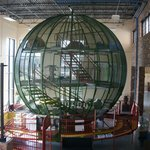 Giant green sphere for kids to walk through
