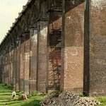 Ouse Valley viaduct from the ground