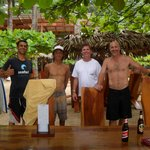The crew enjoying the view after surfing.